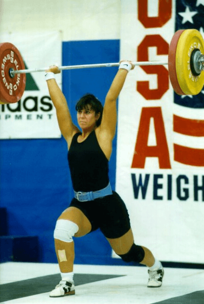 Kerri Hanebrink Goodrich as a weightlifter