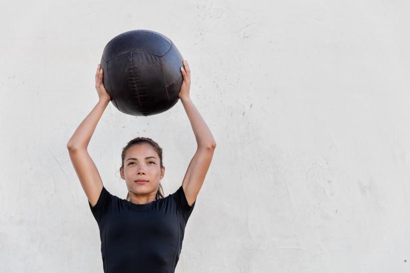 Medicine Ball Overhead Squat & Slam