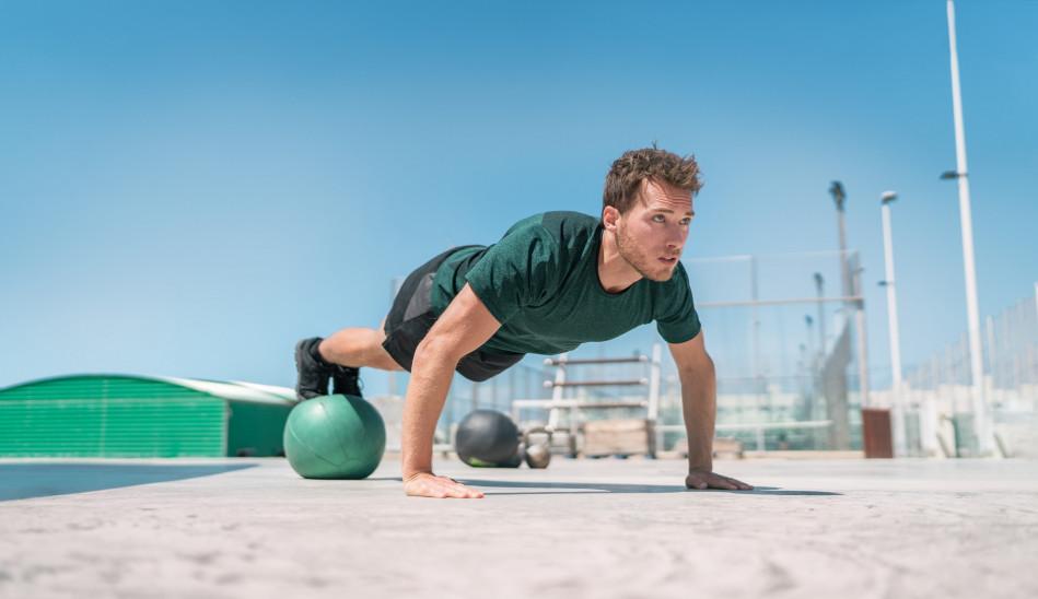 Physioball Hip & Knee Tuck & Decline Push-up