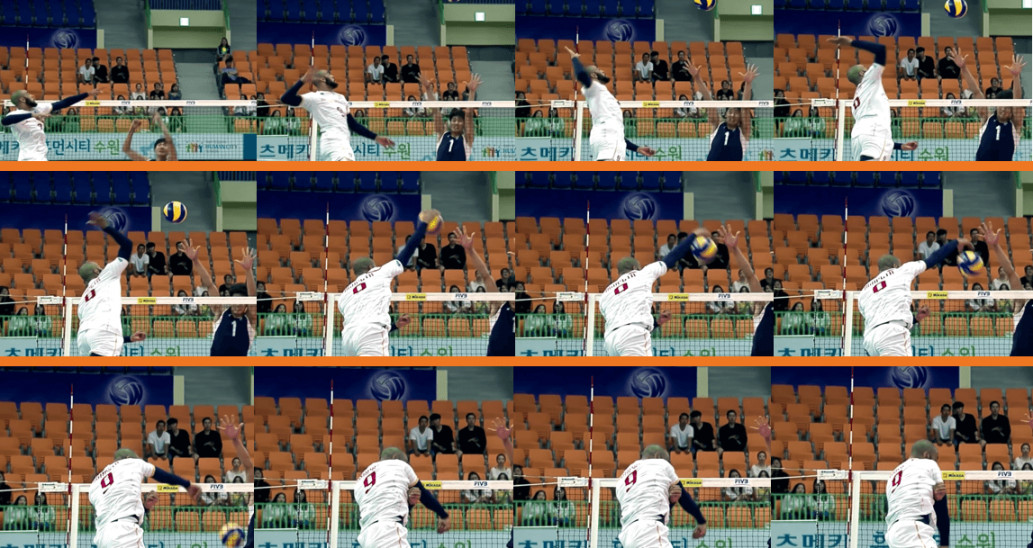Seeing is Believing: The Asynchronous Synergy of Arms in the Volleyball Spike