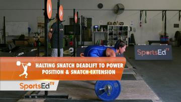 Halting Deadlift To Power Position & Snatch Extension