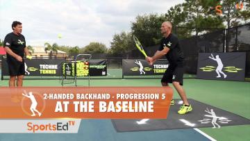 2-Handed Backhand Progression 5 - Putting It Together On The Baseline