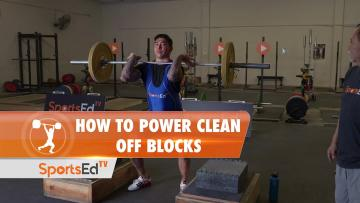 How To Power Clean Off Blocks