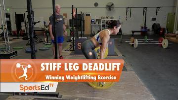 Romanian Deadlift or Stiff Leg Deadlift - Winning Weightlifting Exercise