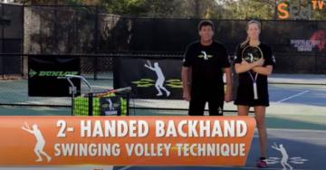 2-Handed Backhand Swinging Volley Technique