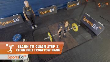 Learn To Clean - Step 3 - Clean Pull, Low Hang (No Blocks)