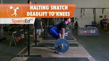 Halting Snatch Deadlift To Knees