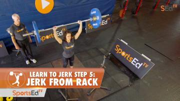 Learn To Jerk - Step 5 - Jerk From Rack (Woman)