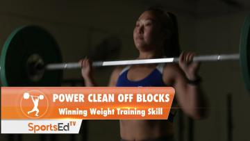 Power Clean Off Blocks - Winning Weight Training Skill