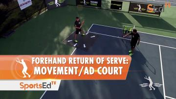 Forehand Return Of Serve: Movement / Ad Court