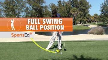 Full Swing Ball Position