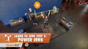 Learn to Jerk - Step 3 - Power Jerk (Woman)