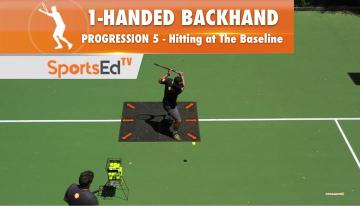 1-Handed Backhand Progression 5 - Putting It Together On The Baseline