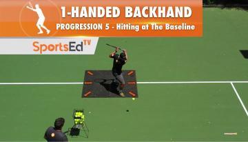 1-Handed Backhand Progression 5 - Putting It Together On The Baseline