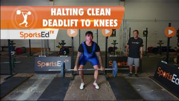 Halting Clean Deadlift To Knees