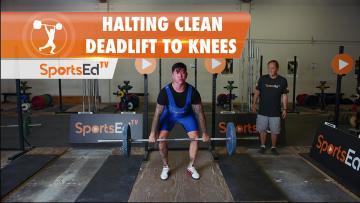 Halting Clean Deadlift To Knees