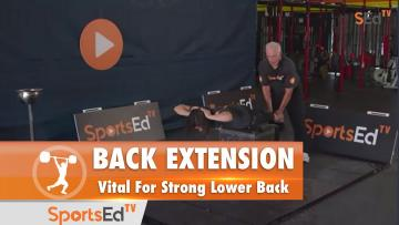 Back Extension (W) : Vital For Strong Lower Back
