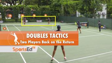 Doubles Tip-Two Back on Return