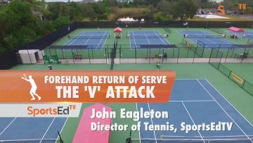 "Forehand Return Of Serve - The ""V"" Attack"