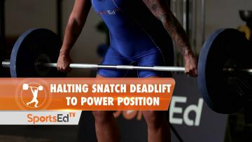 Halting Clean Deadlift To Power Position