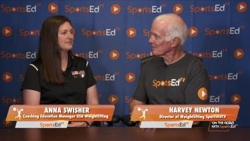 Harvey Newton talks with Anna Swisher, Coaching Education Manager USA Weightlifting