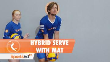 THE HYBRID SERVE WITH MAT - Floater onto Topspin Serve