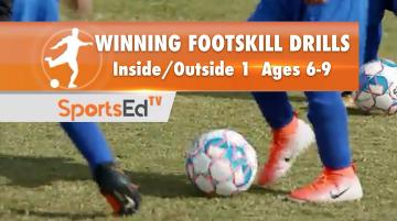 WINNING FOOTSKILL DRILLS - Inside/Outside 1 Ages 6-9