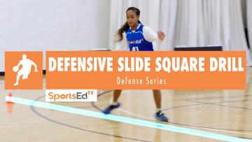 Defensive Slide & Backpedal Square Drill