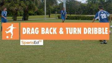 DRAG BACK & TURN DRIBBLE - Winning Dribbling Skills