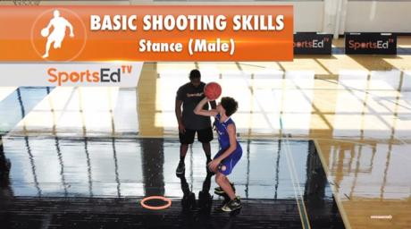 Basic Shooting Skills Stance (Male)