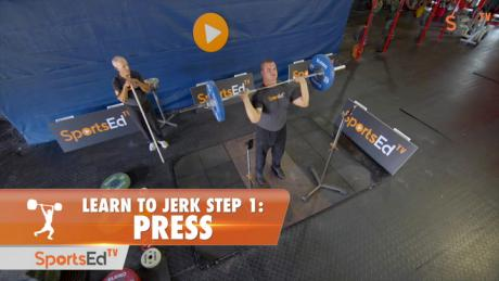 Learn To Jerk - Step 1 - Press