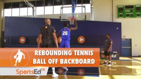 Rebounding Tennis Ball Off The Backboard
