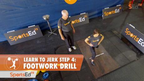 Learn To Jerk - Step 4 - Footwork Drill (Woman)