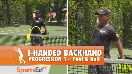 1-Handed Backhand Progression 1 - Feel & Roll