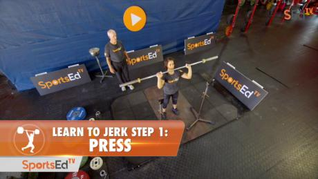 Learn To Jerk - Step 1 - Press (Woman)