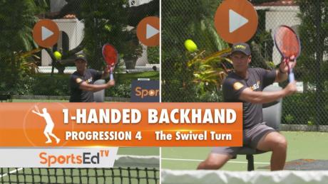 1-Handed Backhand Progression 4 - The Swivel Turn