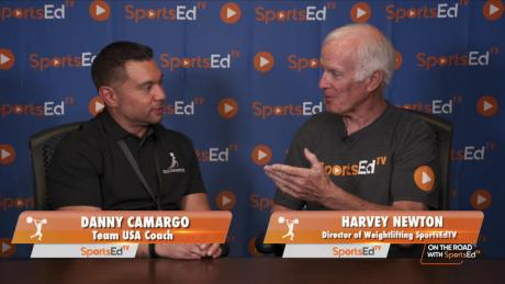 Harvey Newton talks with Danny Camargo, TEAM USA Coach