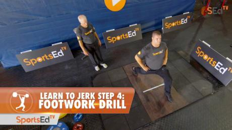 Learn To Jerk - Step 4 - Footwork Drill
