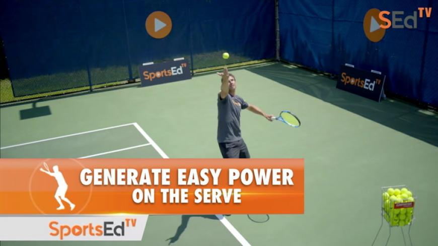 Generate Easy Power On The Serve - Harnessing The Coil and Racquet Drop