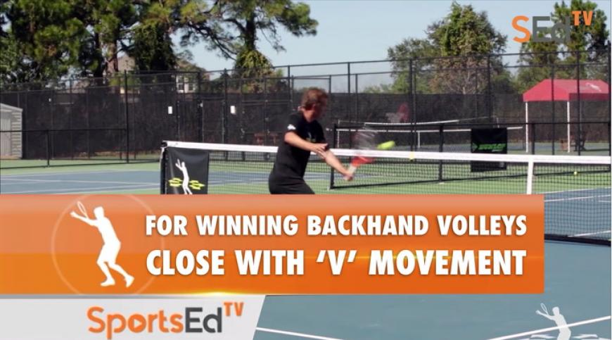 "Backhand Volley - Positioning & ""V"" Movement With Ellis Ferreira"