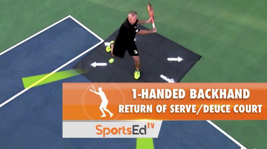 1-Handed Backhand Return Of Serve: Movement/Deuce Court