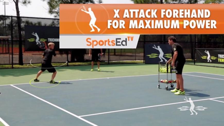 X Attack Forehand / Stepping Back For Maximum Power