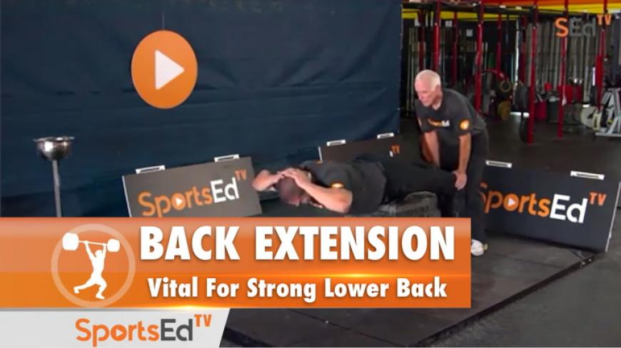 Back Extension : Vital For Strong Lower Back
