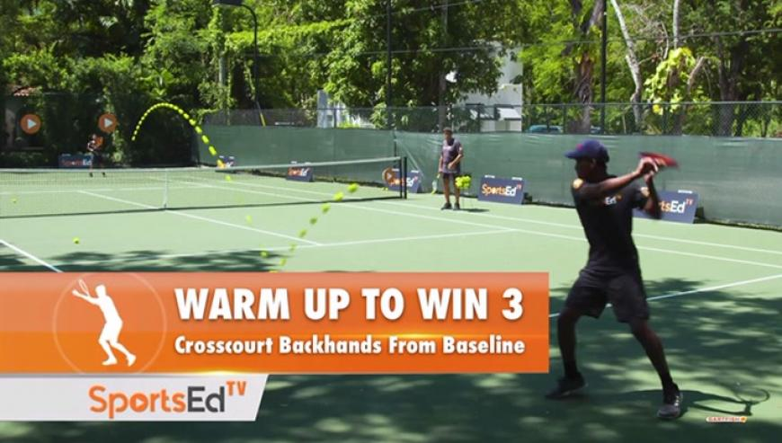 Warm Up to Win 3: 1-Handed Backhand from the Baseline