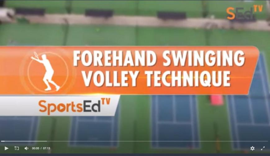 Forehand Swinging Volley Technique